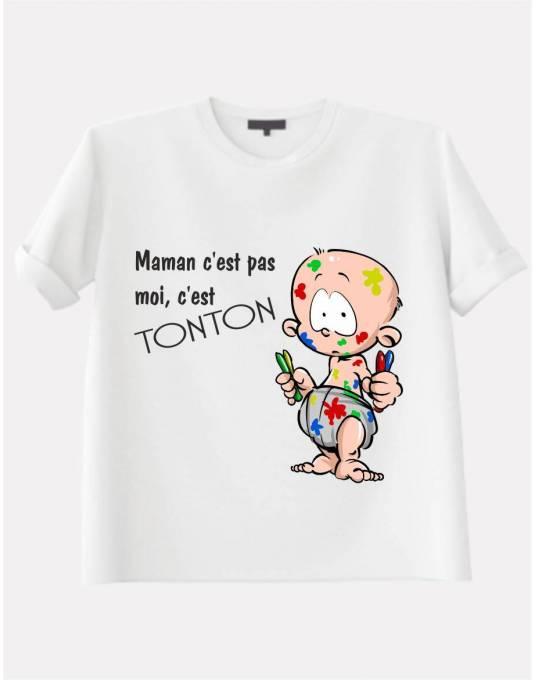 Tee shirt avec phrase humoristique