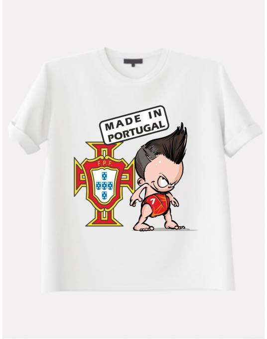 T-Shirt enfant. L'Écusson Portugais (Made in Portugal)