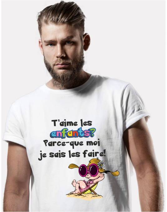 tee shirt homme original